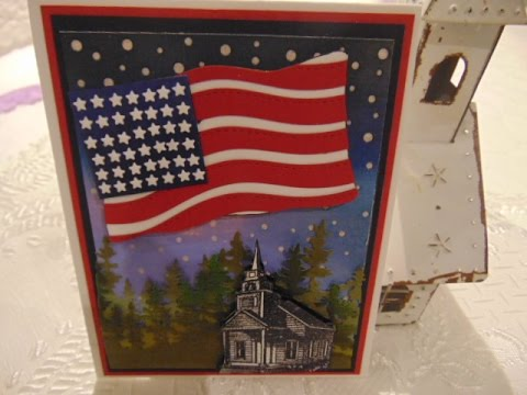 4th Of July American Flag Card NEW