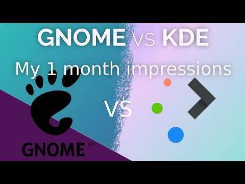 I used Plasma and GNOME for a month each, here are my impressions !