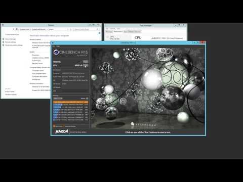 Dual AMD EPYC 7601 Crushing Cinebench R15 Windows Server