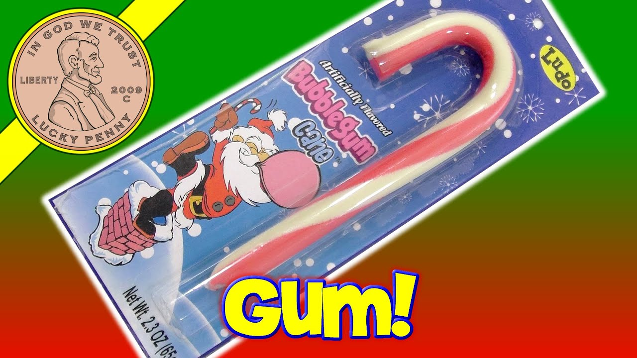 Bubble Gum Christmas Candy Cane Stocking Stuffer Santa Blows A Bubble By Ludo