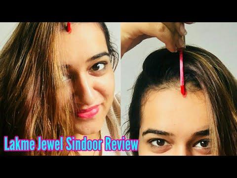 लक्मे सिंदूर - LAKME JEWEL SINDOOR REVIEW | BEST SINDOOR FOR MARRIED WOMAN | GLITTERY LIQUID SINDOOR