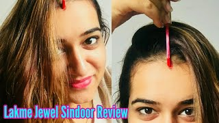 - LAKME JEWEL SINDOOR REVIEW BEST SINDOOR FOR MARRIED WOMAN GLITTERY LIQUID SINDOOR