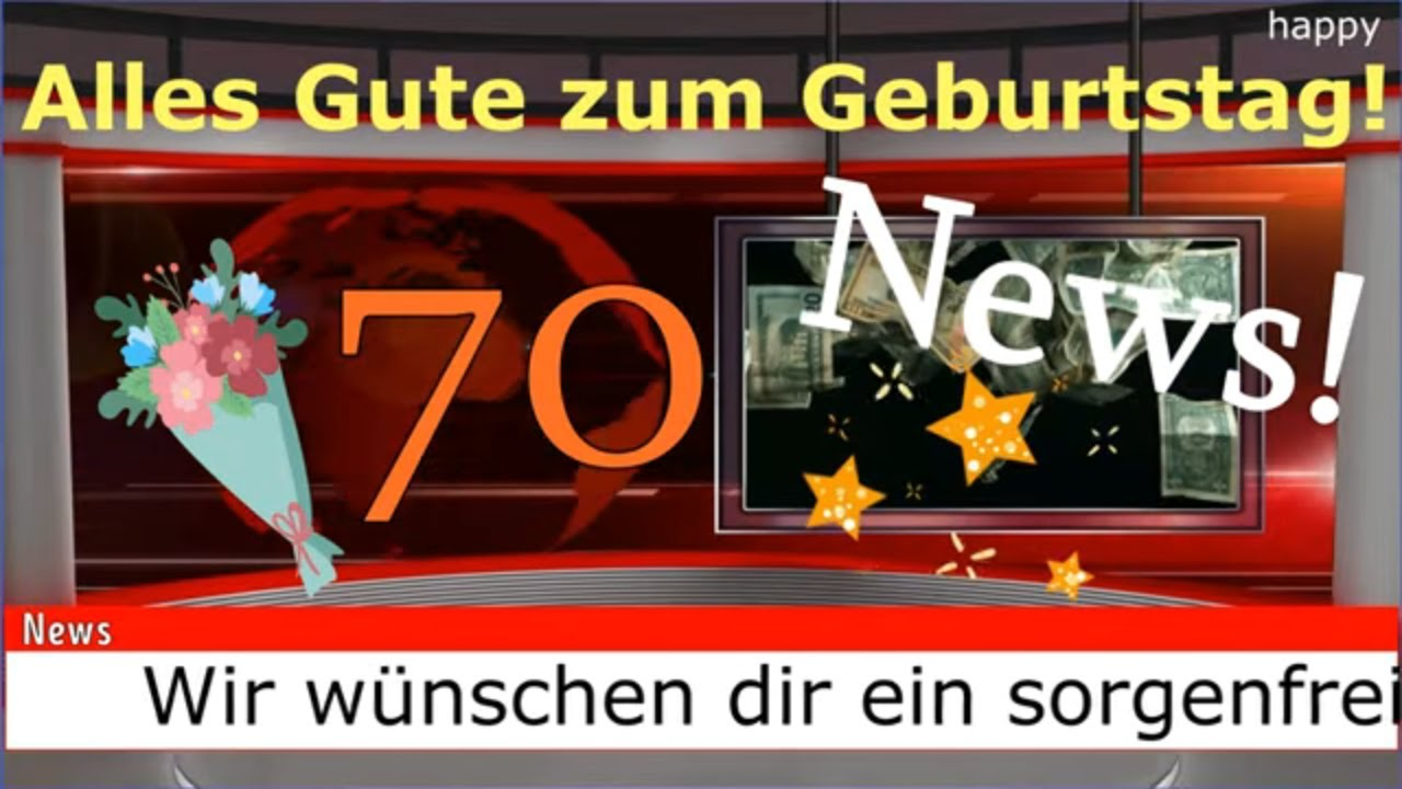 Geburtstagsgrusse Zum 70 Geburtstagswunsche Zum 70