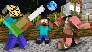 Monster School : Zombie Horror Challenge - Minecraft Animation