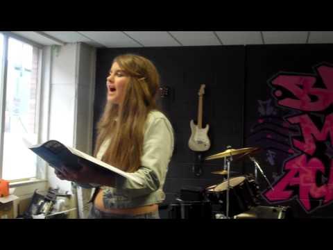 Chloe Singing very popular song, towards Grade 5