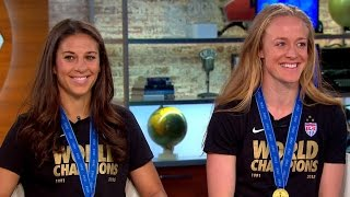 World Cup champs Lloyd and Sauerbrunn on making history, gender pay disparity
