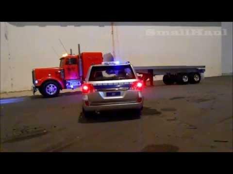 POLICE CAR RANGE ROVER RADIO CONTROLLED POLICE SIREN LIGHTS 1:16