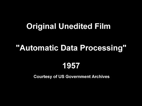 1957  Automatic Data Processing - IBM 705 Mainframe Data Center EDPM ARMY Computer