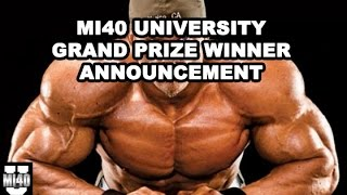 Ben Pakulski MI40 University Grand Prize Winner Announcement