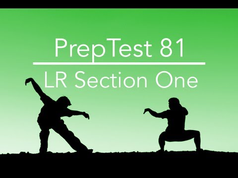 PrepTest 81, Section 2, Question 1, LSAT Prep with Dave Hall of Velocity Test Prep