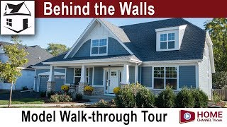 Behind the Walls S1 - Ep 8 | Custom Home Walk-through Tour of Airhart's Custom Home Model