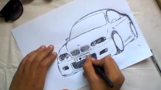 easy draw _ BMW 320i