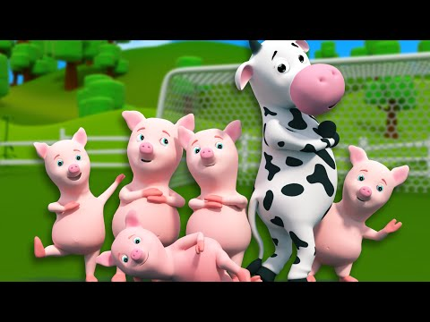 Five Little Piggies | 3D Nursery Rhymes For Kids And Childrens | Songs For Baby By Farmees