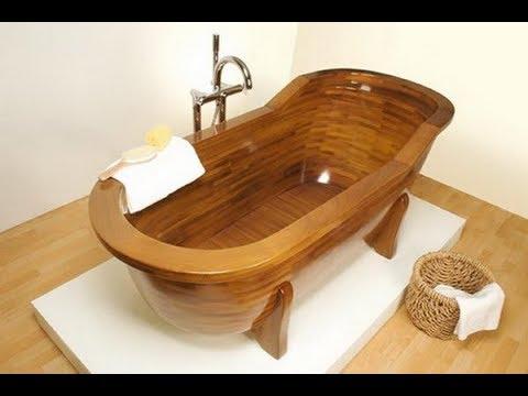 Exquisite Wooden Bathtub Designs Imprinting a Unique Room Character