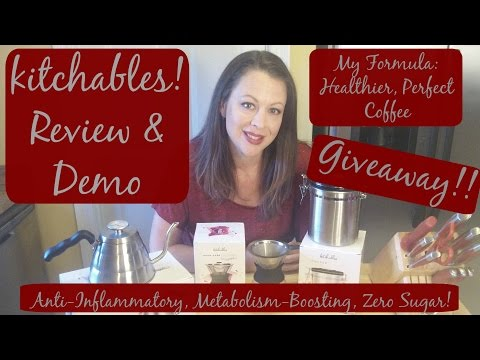 Kitchables Pour Over Coffee Maker Review Demo & Giveaway