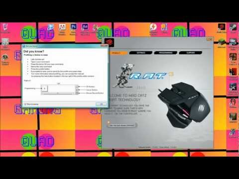 Madcatz RAT 3 Gaming Mouse Rapid Fire Tutorial