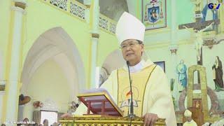 ĐGM Phêrô Nguyễn Văn Khảm giảng trong Thánh lễ nhận sứ vụ  Đức Cha  Alphongso Nguyễn Hữu Long