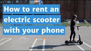 How to rent an electric scooter with your phone