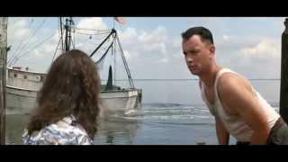Forrest Gump:  Forrest capitán de barco y Teniente Dan oficial (Mejores Escenas)