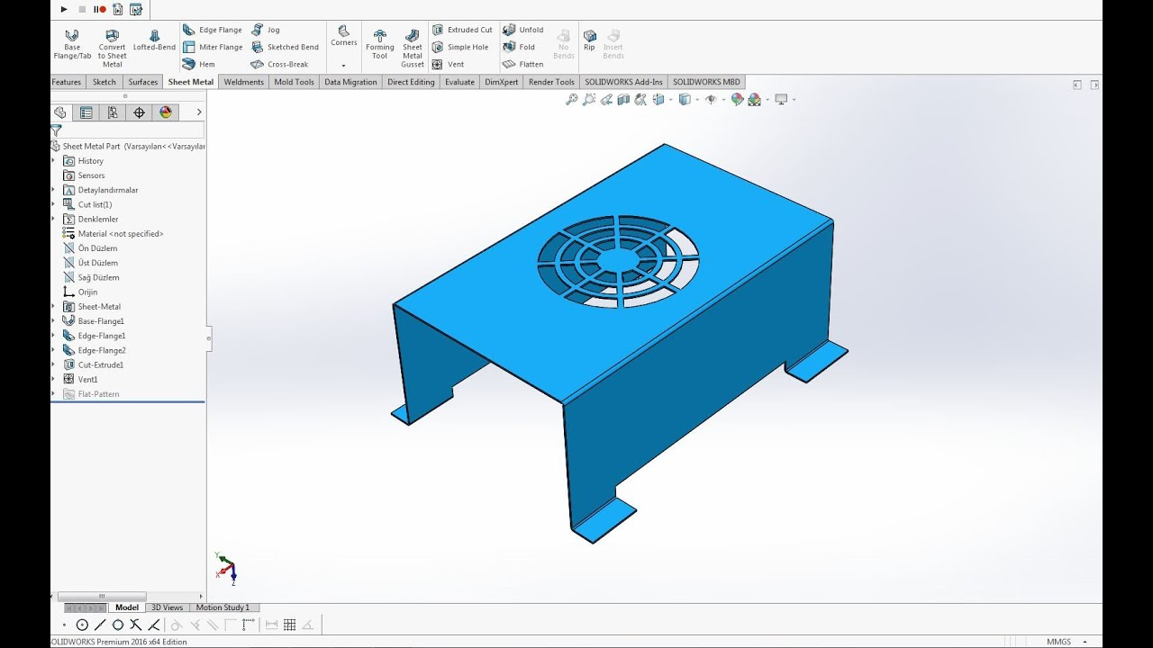 Solidworks Sheet Metal Vent Youtube