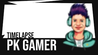 PK Gamer logo design | mascot logo design process time lapse
