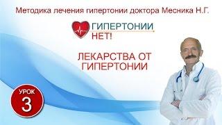 Урок 3. Лекарства от гипертонии. Гипертонии-НЕТ! Методика лечения гипертонии Месника Н.Г.