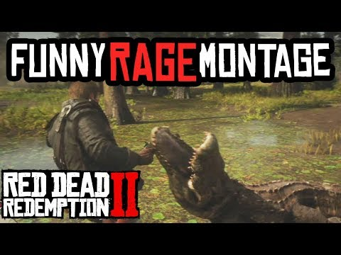 Red Dead Redemption 2 - FUNNY RAGE FAILS FUNTAGE!