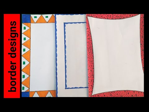 3 In 1 Simple Border Design For Project Assignment Front Page Design Handmade Simple Border Design Youtube