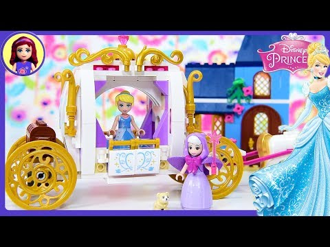 LEGO Disney Princess Cinderella's Enchanted Evening Build Review Silly Play Kids Toys