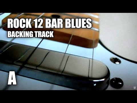 Rock 12 Bar Blues Guitar Backing Track In A