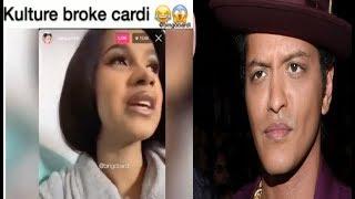 Cardi B cancels Bruno Mars tour: 'Kulture Broke my A$Z