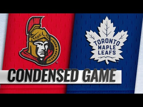 10/06/18 Condensed Game: Senators @ Maple Leafs