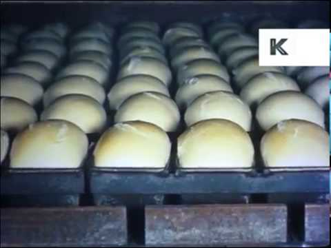 1950s, 1960s UK Bread Production, Food