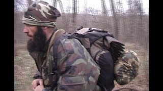 Ахмад Авдорханов и Шаа Турлаев со своими бойцами. После боя с разведкой врага.