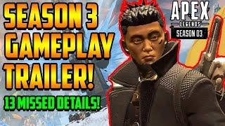 Apex Legends Season 3 Meltdown Gameplay Trailer - 13 Missed Details and New Skins Shown!