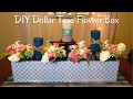 DIY DOLLAR TREE FLOWER BOX