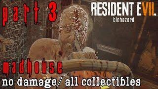Resident Evil 7 Madhouse Walkthrough Part 3 - Jack Baker Boss Battle All Collectibles/No Damage