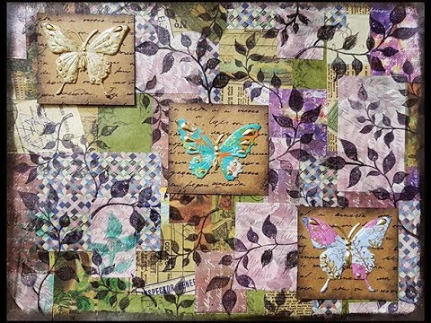 Art Journal Page - Collage Background