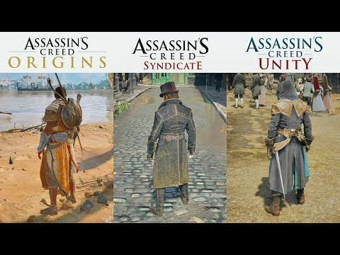 Assassin's Creed Origins vs Syndicate vs Unity - Graphics and Gameplay Comparison