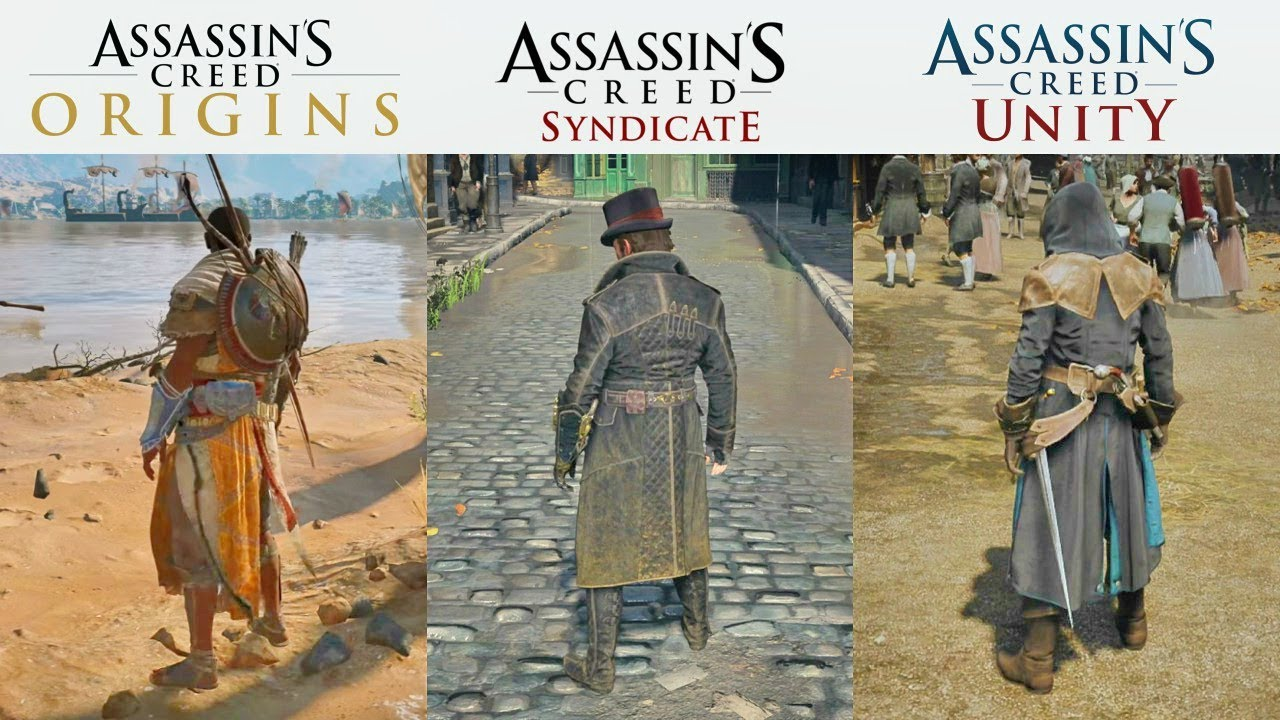 Assassin's Creed Origins vs Syndicate vs Unity - Graphics ...