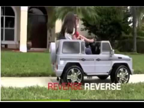 kids electric mercedes benz g55 silver 2 seater ride on 12 volt