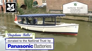 Electric Canal Boat UK. Brief History, Wey Navigation, Surrey, UK. National Trust UK. Dapdune Wharf.