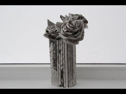 Ваза из бумаги. Как сделать вазу из бумаги. 2 способа. Декор своими руками.
