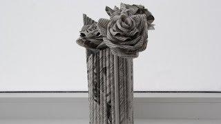 Ваза из бумаги. Как сделать вазу из бумаги. 2 способа. Декор своими руками.(Видео: ваза из бумаги или как сделать вазу из бумаги самому. Хочется украсить/освежить комнату новым декоро..., 2014-01-08T10:31:40.000Z)