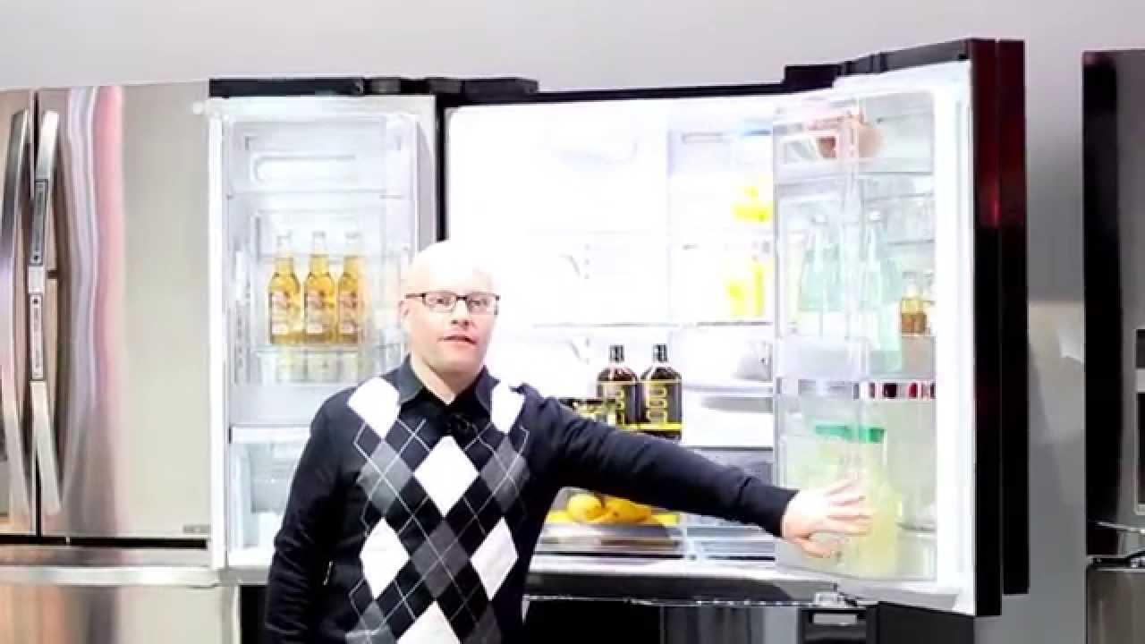 Inredning kyl och frys side by side : LG Kyl & Frys på CES2015 - YouTube