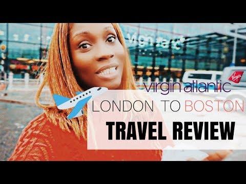 VIRGIN ATLANTIC ECONOMY CLASS | LONDON TO BOSTON | Daily Vlog #02 | Sassy Funke