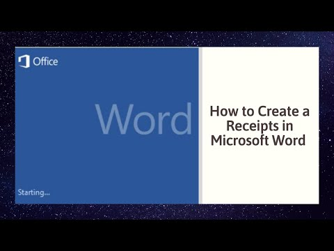 How to Create a Receipts in Microsoft Word 2010