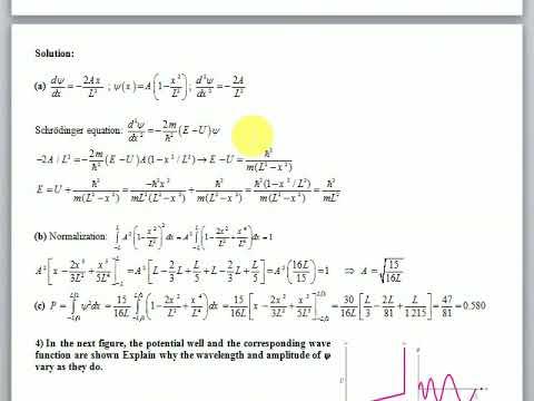 Modern Physics - Problem set 04 - Part III - Solutions