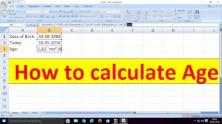 how to calculate age or how to subtract dates or how to make age calculator in excel