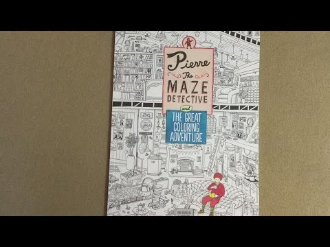Pierre the Maze Detective and The Great Coloring Adventure flip through